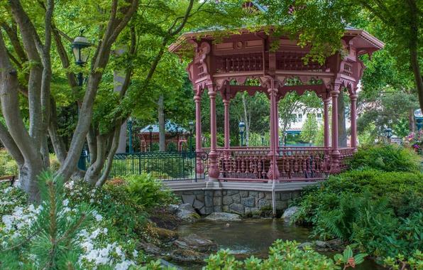 Picture Gazebo, Garden, Pond, Park, Nature, Park, Pond, Garden