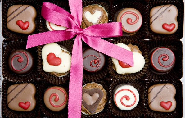 Picture candy, love, heart, romantic, chocolate, gift, valentine`s day