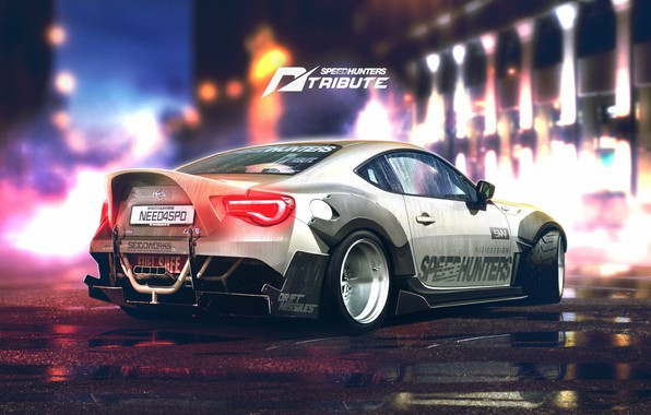 Picture Auto, Figure, Machine, White, Toyota, Car, Car, Art, Art, Rendering, Toyota GT 86, GT86, GT …