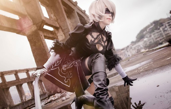 Picture wig, cosplay, the willingness to attack, Nier Automata, No. 2 Yorha