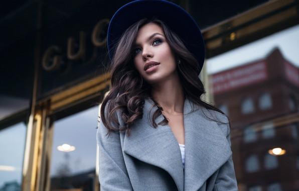 Picture girl, style, Catherine, hat, coat, Alexey Starski