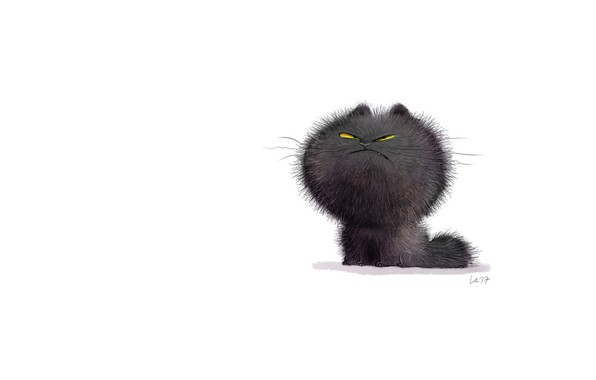 Picture cat, mood, art, pussy, illustration, children's, Wiebke Rauers
