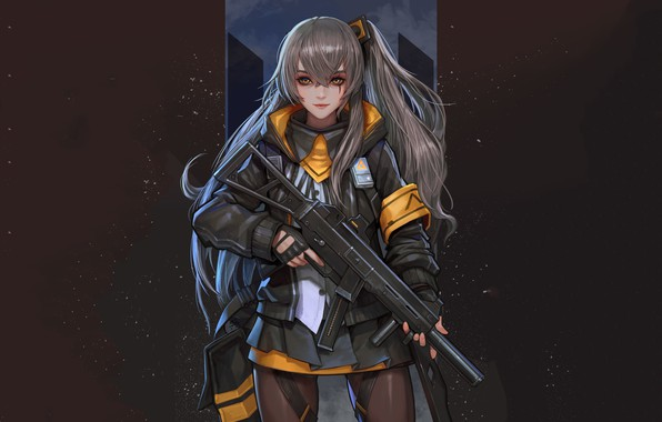 Picture girl, weapons, anime, Girls Frontline