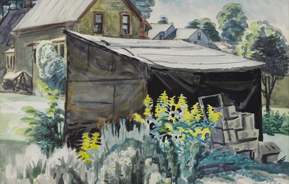 Picture 1923, Charles Ephraim Burchfield, Goldenrod and Shed