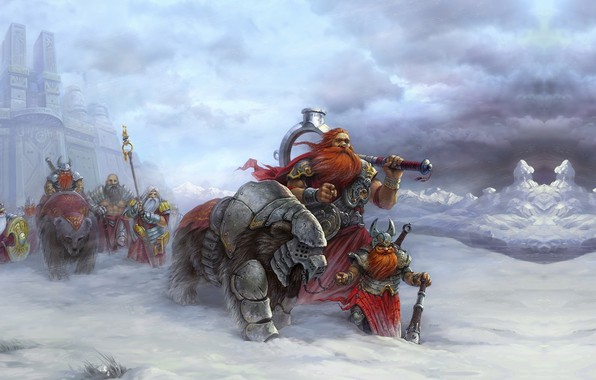 Picture fantasy, the game, art, hike, army, Heroes of Might and Magic V (game poster2), Roman …