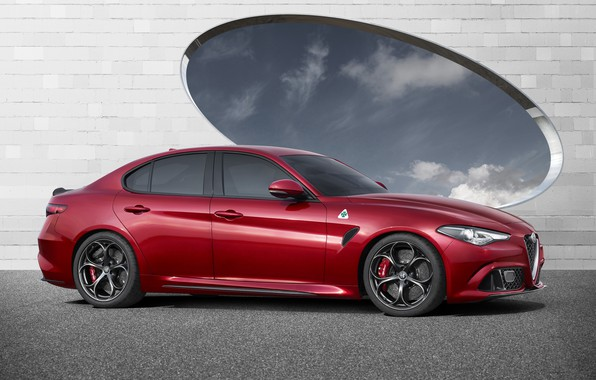 Picture Alfa Romeo, Red, Car, Alfa, Sport, Italian, Giulia