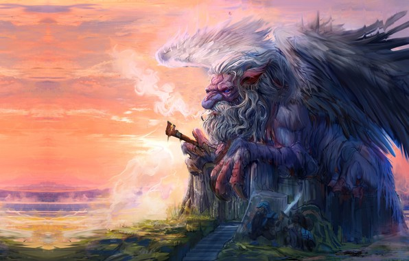 Photo Wallpaper Trung Tin Shinji God Of Knowledge Fantasy Art Illustration