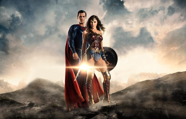 Picture fiction, Superman, Wonder Woman, poster, comic, Superman, superheroes, DC Comics, Clark Kent, Henry Cavill, Henry …