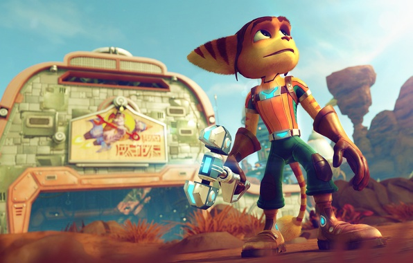 Picture Sony, Games, Playstation, Playstation 4, Ratchet, Character, Lombax, Ratchet & Clank