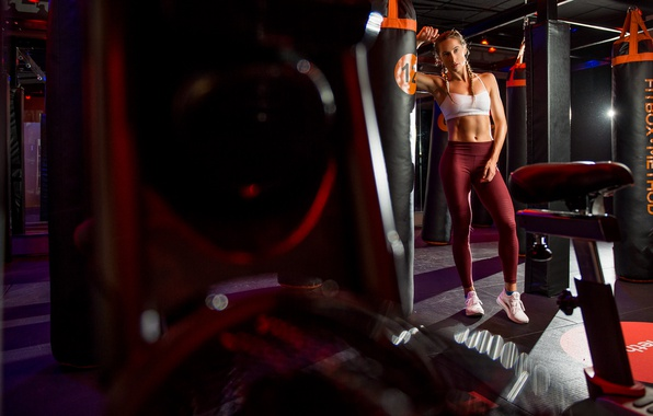 Picture girl, style, figure, sports, the gym, Hanna
