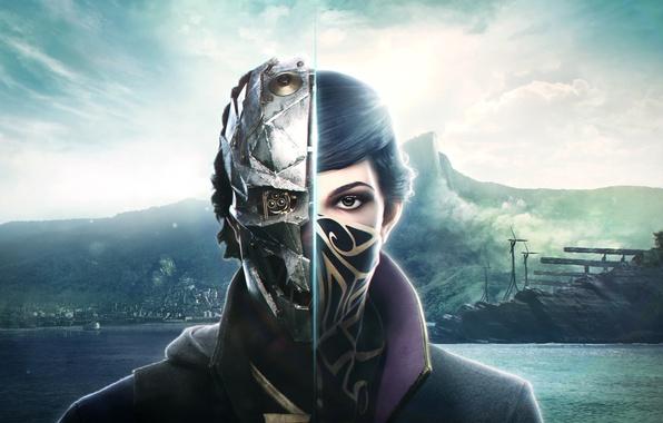Picture Look, Mask, Emily, Bethesda Softworks, Bethesda, Corvo, Corvo, Emily, Arkane Studios, Dishonored 2