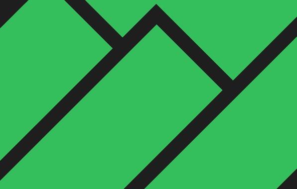 Picture Minimalism, Strip, Green, Line, Manjaro Linux, Material Design, Flat