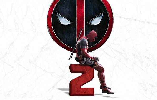 Picture weapons, background, guns, logo, mask, costume, gloves, Ryan Reynolds, Ryan Reynolds, swords, poster, Deadpool, katana, ...