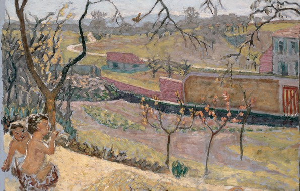 Picture trees, children, Stone, Nabi intimism, Little Fauns, Early Spring, Bonnard