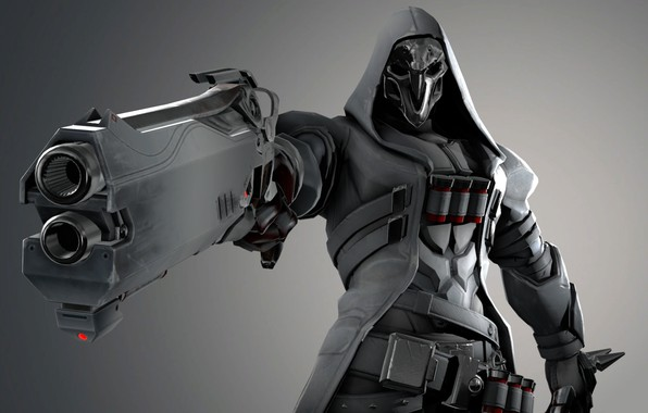 Picture white, white, character, ghoul, Reaper, Reaper, overwatch, ghoul