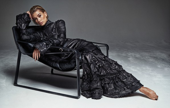 Picture pose, model, dress, Hailey Baldwin
