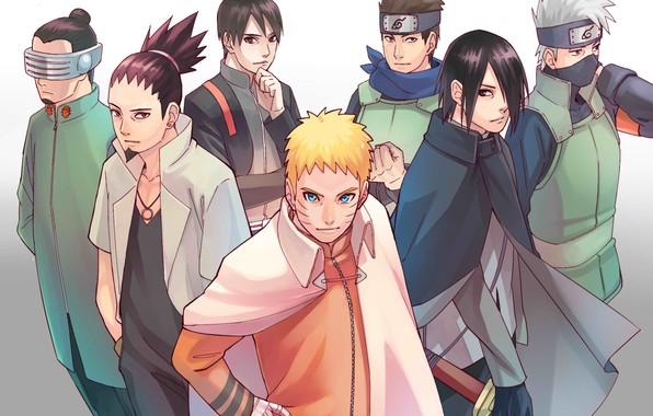 Picture Naruto, Uchiha Sasuke, Hatake Kakashi, Uzumaki Naruto, Sai, nanadaime, Konohamaru, Shikamaru Nara, Boruto Naruto Next …
