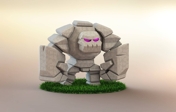 Picture rock, game, golen, Clash Of Clans