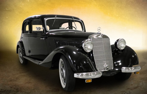 Picture retro, rarity, Mercedes-Benz 170 V