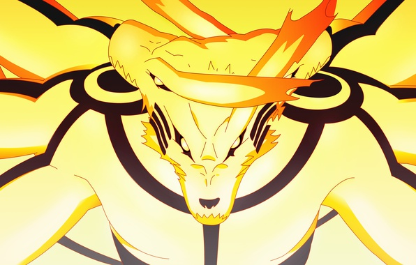 Picture Naruto, anime, kyuubi, japanese, Naruto Shippuden, bijuu, Kurama no Yoko, by indiandwarf, Ashura Kurama Mode