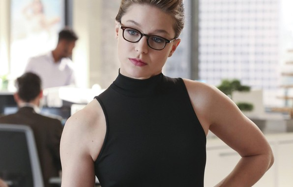 Picture Girl, Look, Glasses, Girl, Actress, The series, Beauty, Beautiful, DC Comics, Actress, Supergirl, Black, Glasses, …
