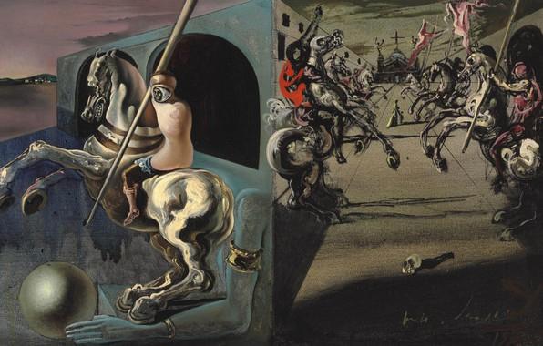 Picture surrealism, picture, Salvador Dali, Salvador Dali, Parade Of The Knights