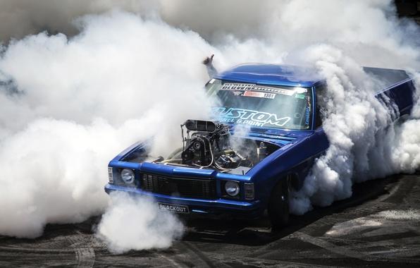 Picture Chevrolet, chevrolet, pickup, burnout, pickup