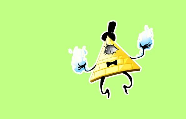 Picture cartoon, art, Gravity Falls, Bill Cipher, Gravity Falls, bill cipher