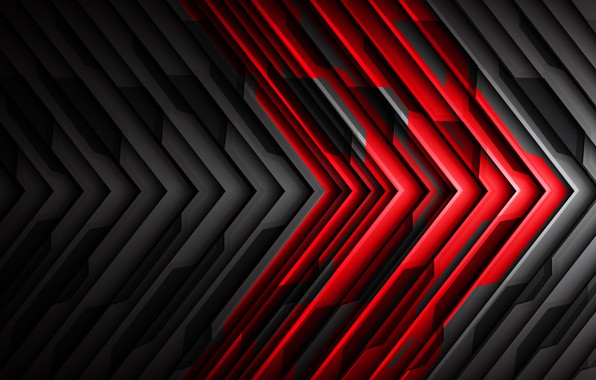 Wallpaper strip, background, black and red, abstractia