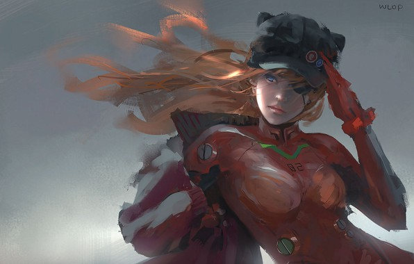 Picture art, Asuka Langley, Wlop
