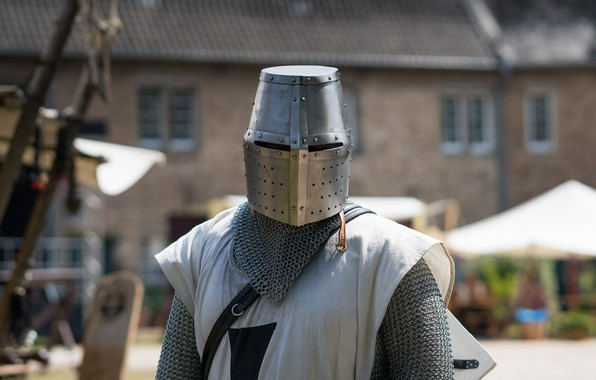 Picture armor, helmet, knight, metal, mail