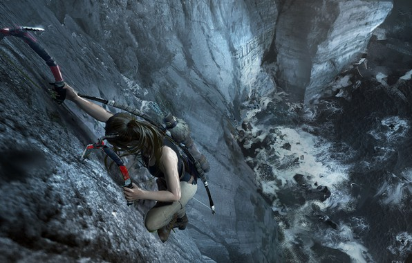 Picture hair, mountain, Tomb Raider, Lara Croft, icebreaker, Shadow of the Tomb Raider