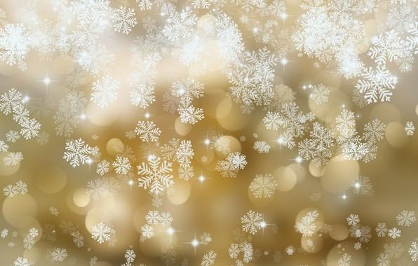 Picture snowflakes, texture, golden, with, background, snowflakes