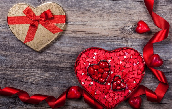 Picture love, gift, chocolate, candy, hearts, sweets, love, wood, romantic, hearts, chocolate, Valentine's Day, gift, candy, …