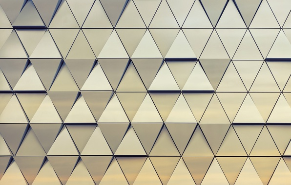 Photo wallpaper triangle, steel, background, texture, design, abstract, wall, triangle