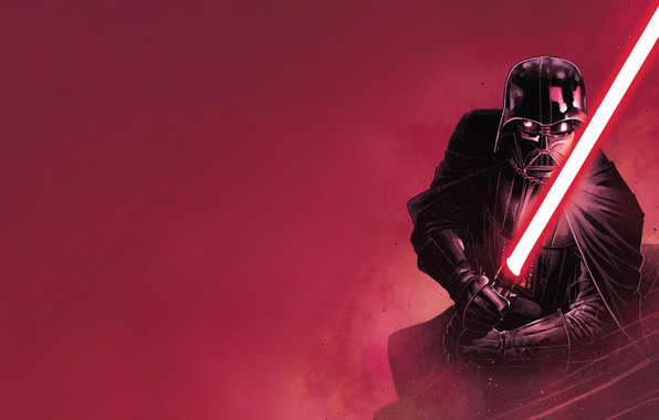Picture Red, Black, Star Wars, Helmet, Star wars, Darth Vader, Mask, Red, Cloak, Lightsaber, Black, Darth …