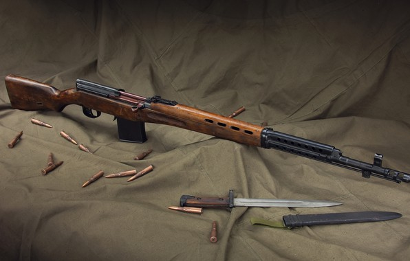 Picture gun, rifle, weapon, rifle, SVT, SVT, SVT-40, bayonet, Self-loading rifle Tokarev