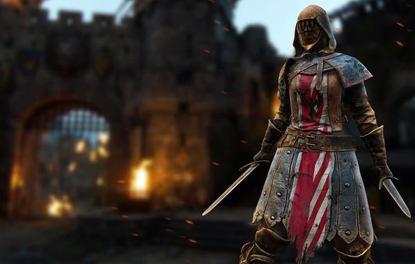 Photo wallpaper sword, game, armor, woman, ken, blade, pearls, For Honor, Peacekeeper