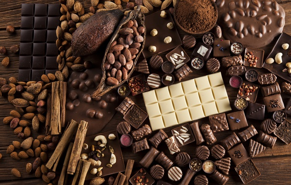 Picture Chocolate, Candy, Sweets, Food, Nuts, Cinnamon