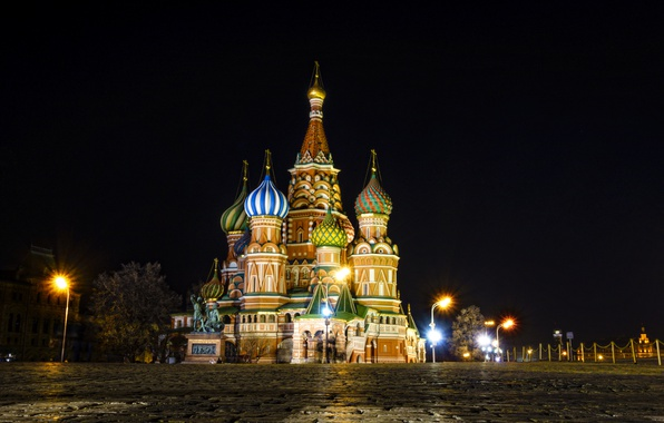 Picture Moscow, The Kremlin, St. Basil's Cathedral, Russia, Moscow, Kremlin, Red Square