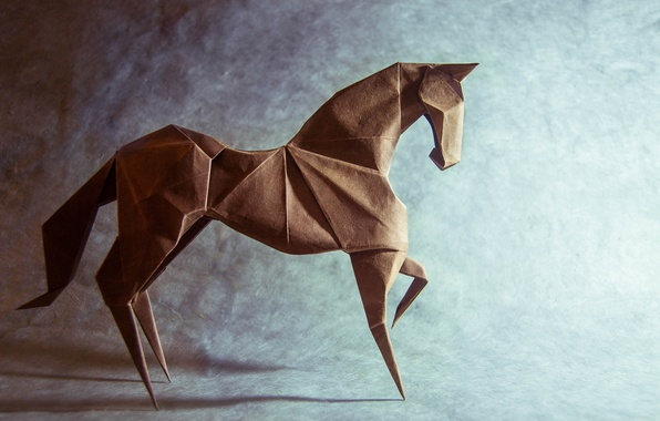 Photo Wallpaper Paper Horse Origami