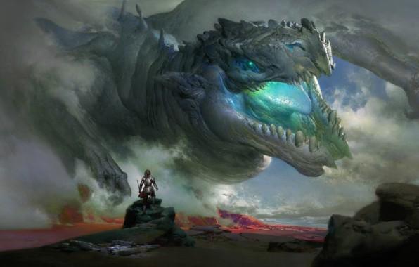 Picture fantasy, knight, Ruan Jia, Elder Gragon