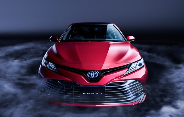 Picture Toyota, Front, Smoke, RED, Camry, Sight, XV70