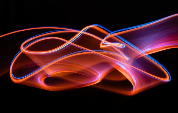 Picture abstraction, strip, the dark background, pattern, brightness