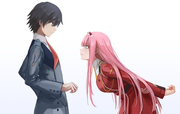 Picture girl, anime, guy, Darling In The Frankxx, Cute in France