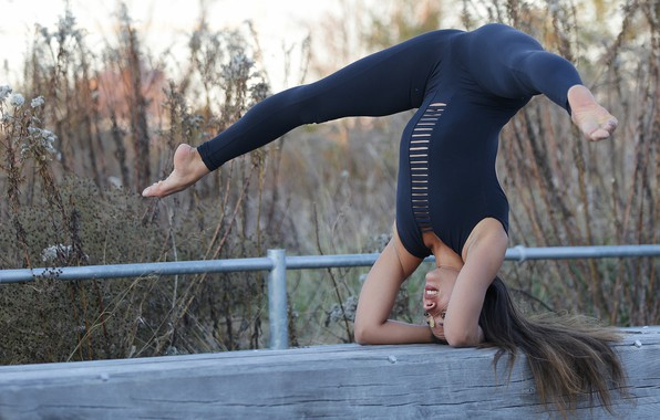 Picture girl, pose, feet, yoga, exercise