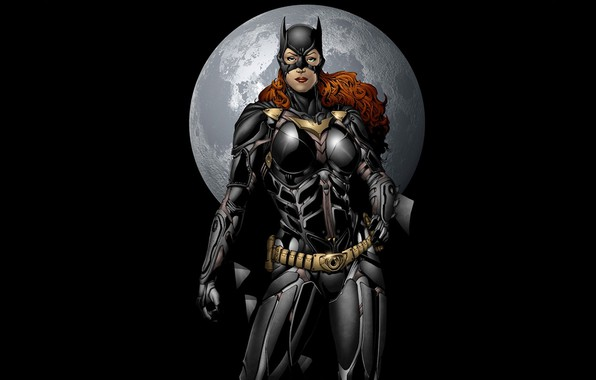 Picture moon, fantasy, minimalism, comics, artwork, mask, superhero, black background, costume, fantasy art, DC Comics, Batwoman, …