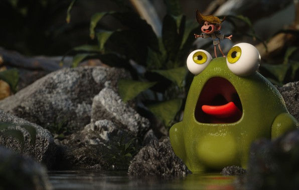 Picture frog, baby, art, friends, My Friend is a Frog!, fellipe beckman