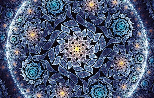 Picture flowers, texture, art, fractal, Jan Jämsén, Fractal artworks 2017