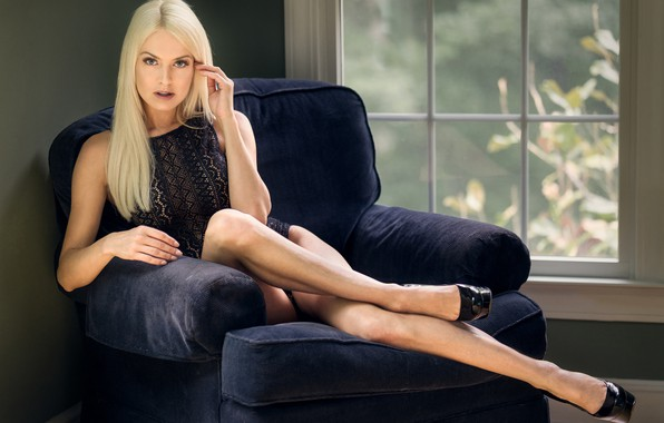 Picture pose, feet, chair, window, blonde, body, Lena Love